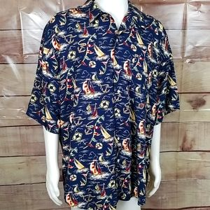 Vintage Nautical Tommy Hilfiger button Up